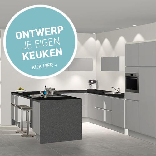 Design eigen keuken for Zelf je keuken ontwerpen